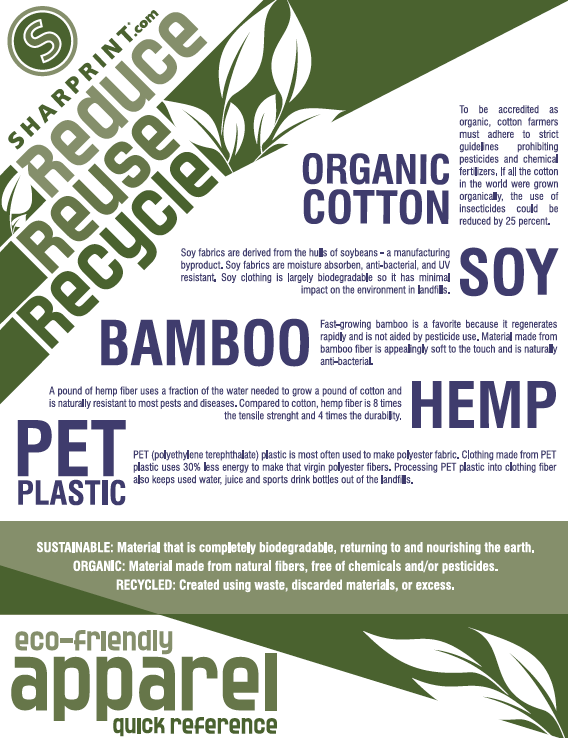 Eco-Friendly Apparel Cheat Sheet
