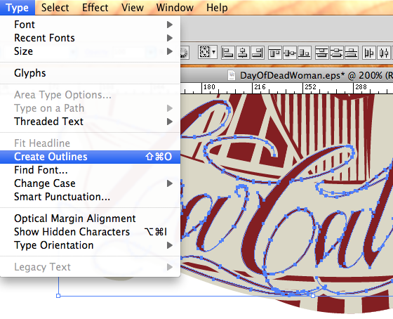 Fonts To Outlines