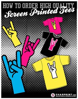 screen printed tees