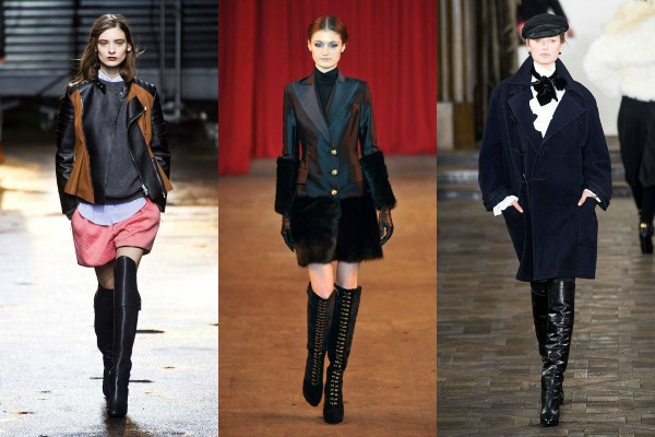 over the knee boots on the fall 2013 runways