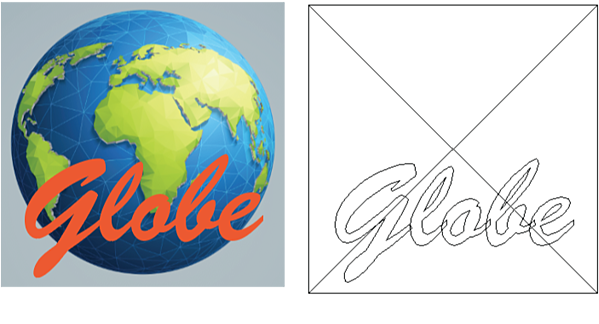 Raster and vector art can be used together.