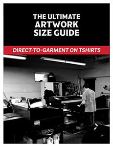 Size Guide for direct-to-garment printing.
